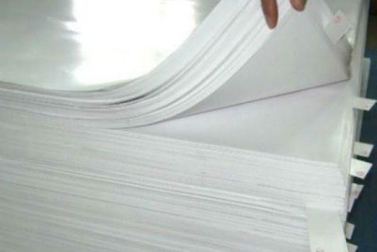 توپ گرانیها در زمین کاغذ گلاسه: